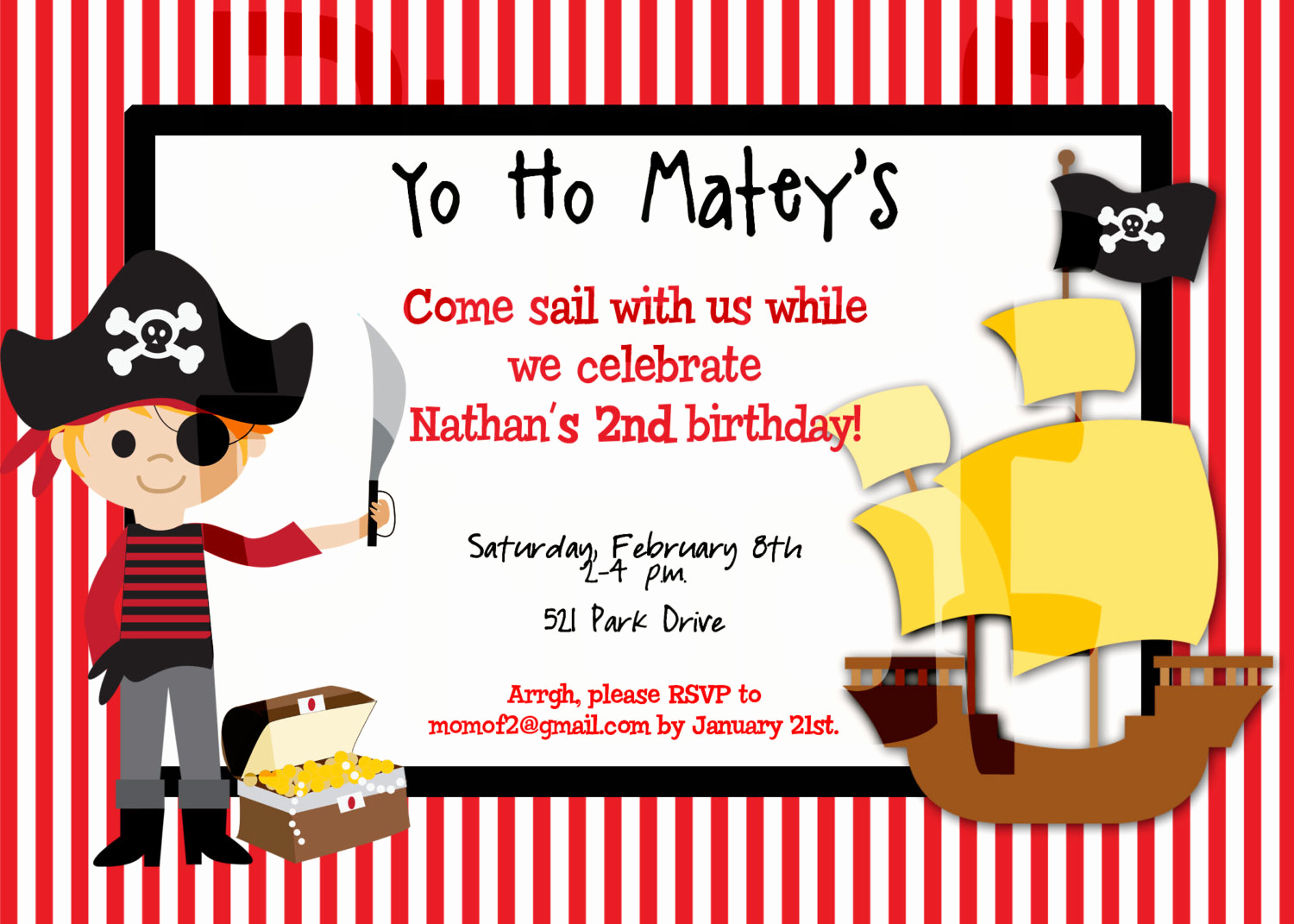 Pirate Party Invitation Templates Awesome Free Printable Pirate Birthday Party Invitations