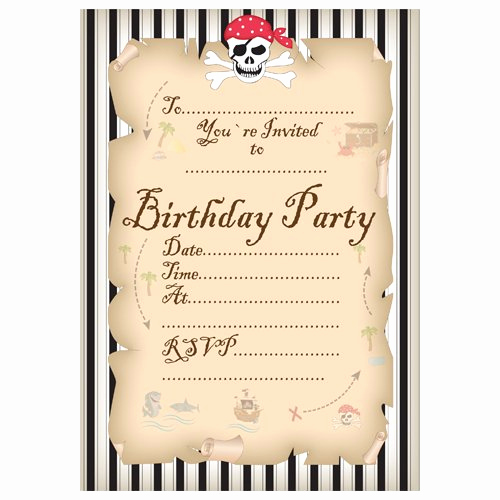 pirate party invitation templates free
