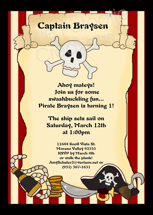 Pirate Party Invitation Templates Elegant Browse Our Large Collection Of Pirates Invitations