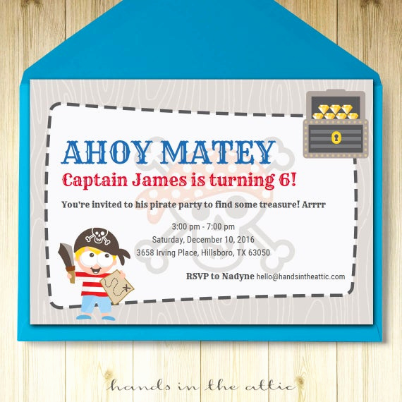 Pirate Party Invitation Templates Elegant Pirate Party Invitation Template Editable Boys Party Invite