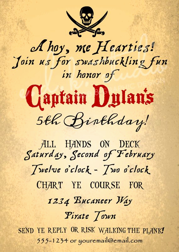 Pirate Party Invitation Templates Inspirational Pirate Party Invitation Goonies Halloween Vintage