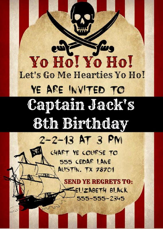 Pirate Party Invitation Templates Inspirational Printable Vintage Pirate Invitation