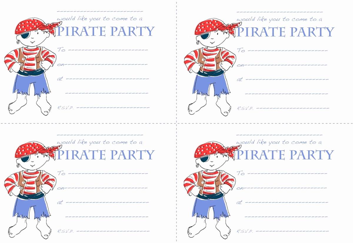 Pirate Party Invitation Templates Unique Pirate Birthday Party Invitation Templates Printable
