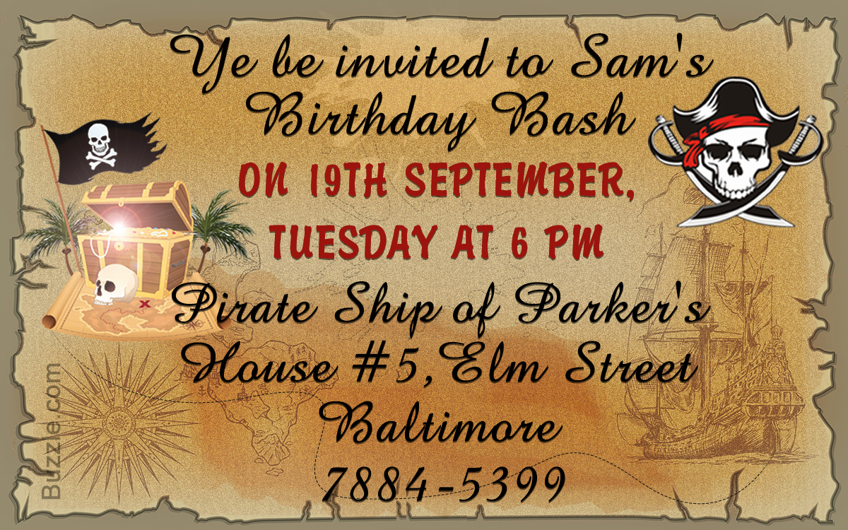 Pirate Party Invitation Wording Lovely Avast Here are 9 Really Freaky Pirate Party Invitation