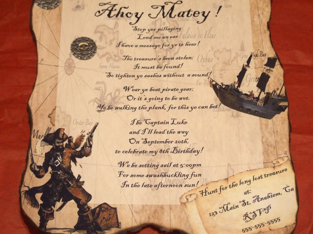 Pirate Party Invitation Wording Lovely Pirate Birthday Party Invitations Favor Halloween