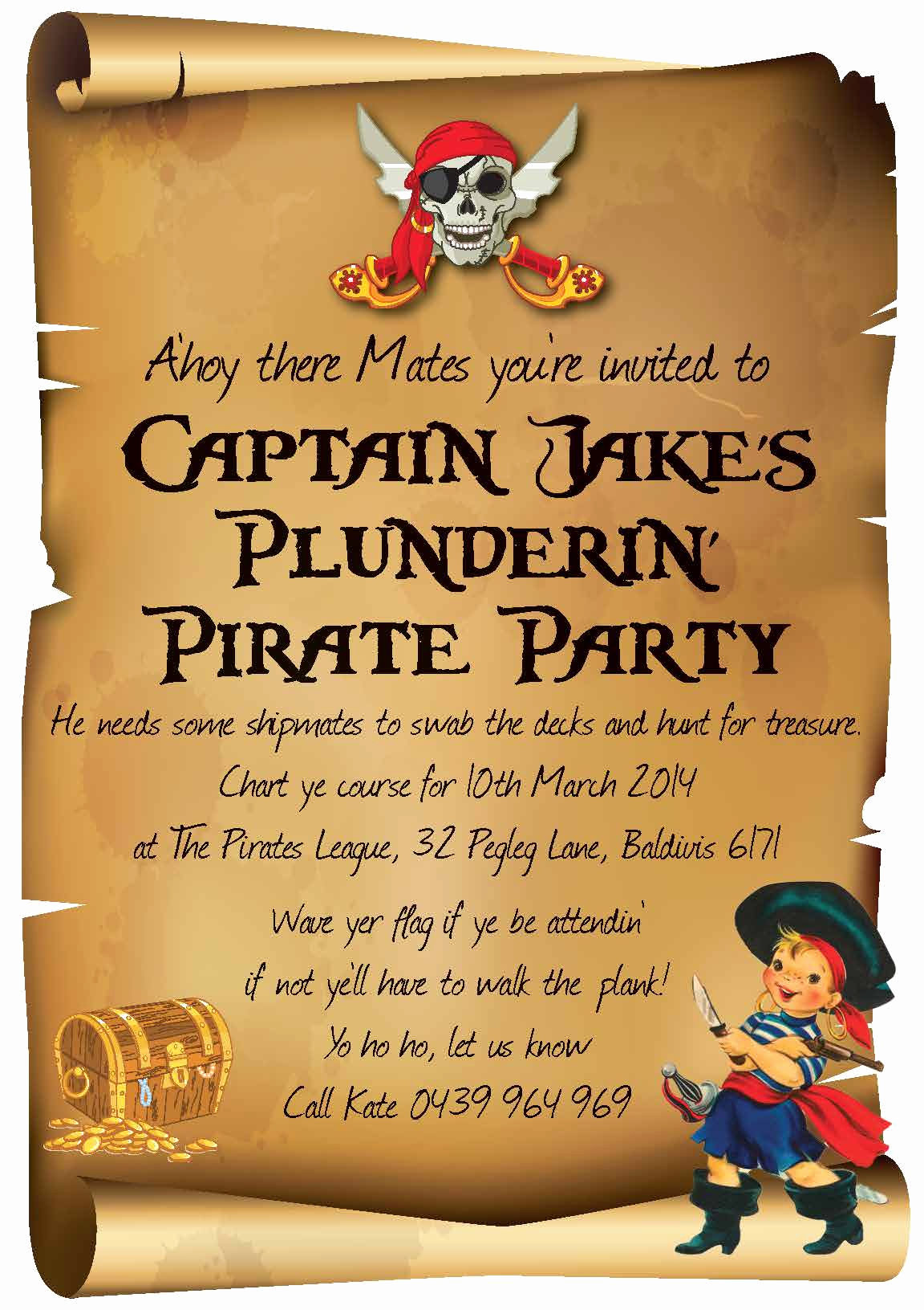 Pirate Party Invitation Wording New Plunderin' Pirates