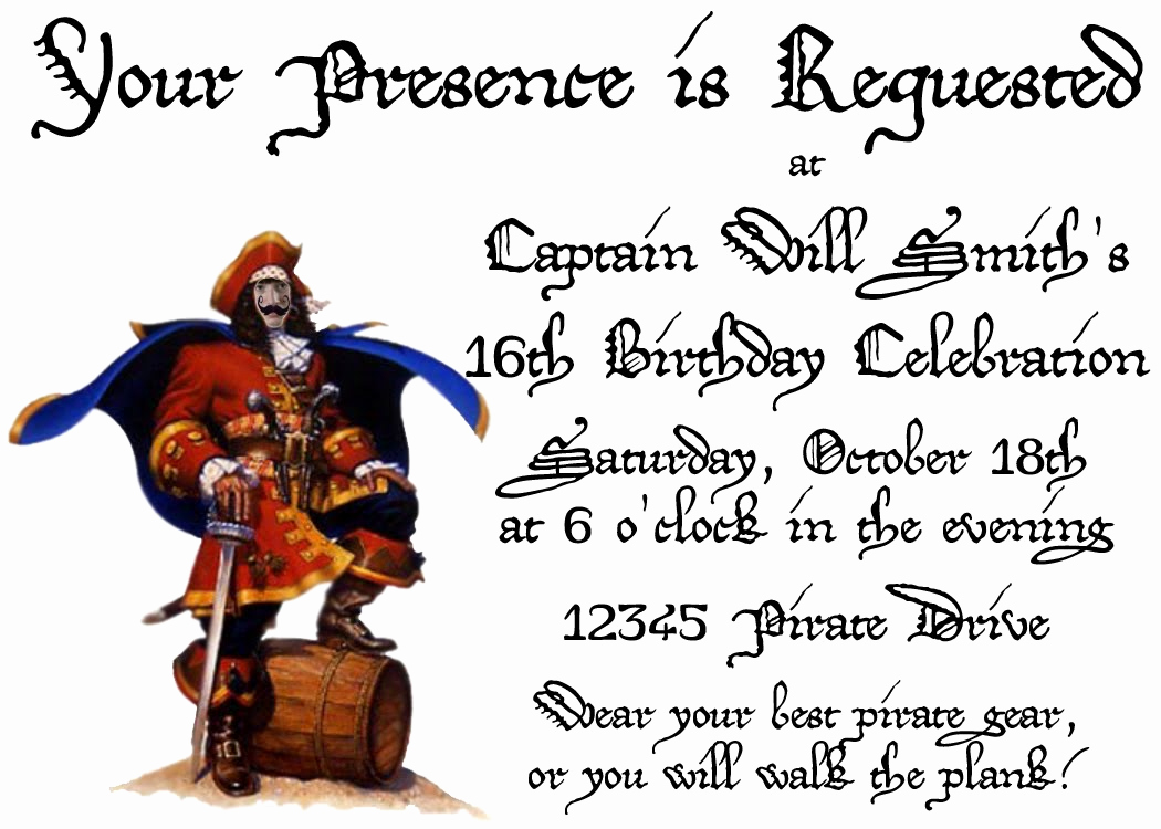 Pirate Party Invitation Wording New T Party Invitations that Impress
