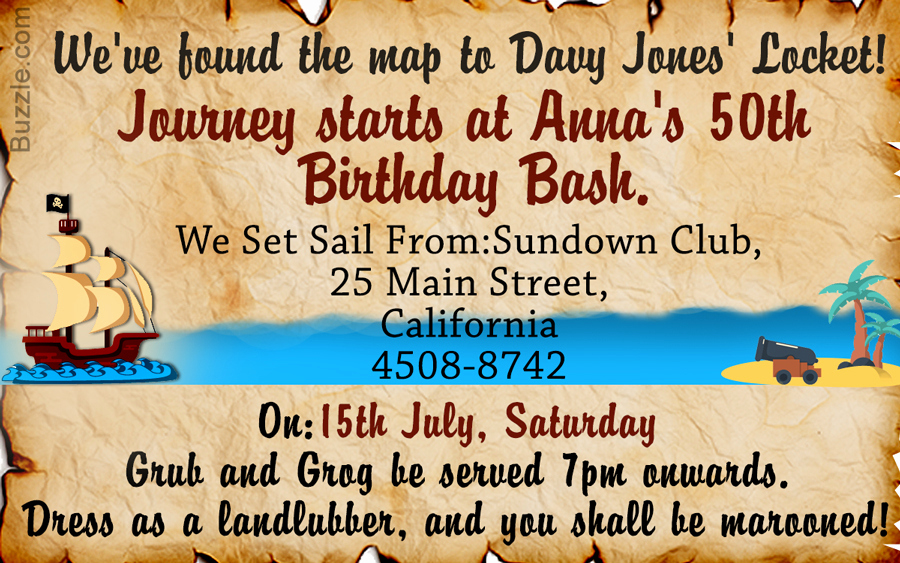 Pirate Party Invitation Wording Unique Avast Here are 9 Really Freaky Pirate Party Invitation