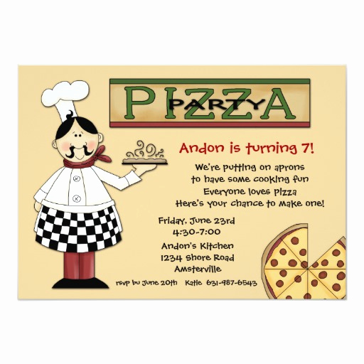 Pizza Party Birthday Invitation Elegant Pizza Party Invitation