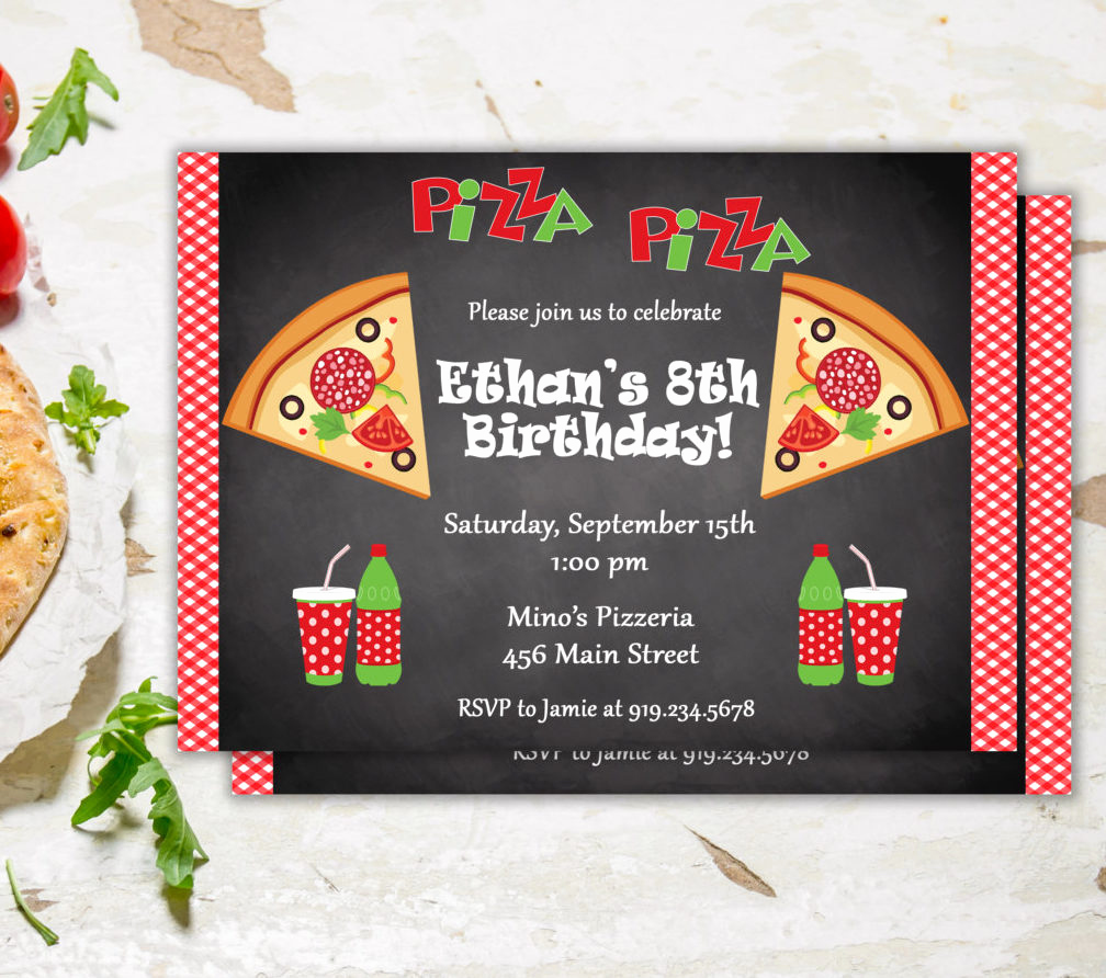 Pizza Party Birthday Invitation Elegant Pizza Party Invitation Pizza Party Invite Pizza