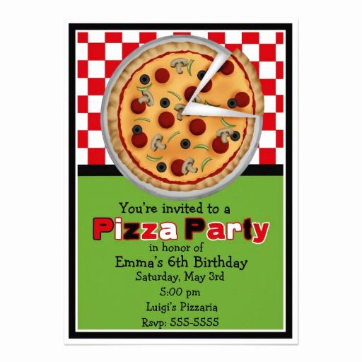 Pizza Party Birthday Invitation Elegant Pizza Party Invite Clipart