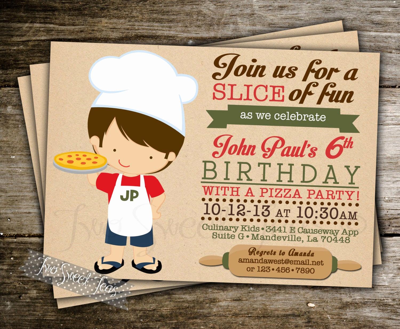 Pizza Party Birthday Invitation Inspirational Pizza Party Invitation Birthday Party Italian by 2sweetteas