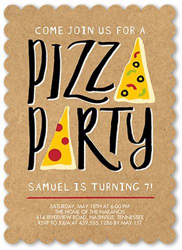 Pizza Party Birthday Invitation Luxury Pizza Party Invitations