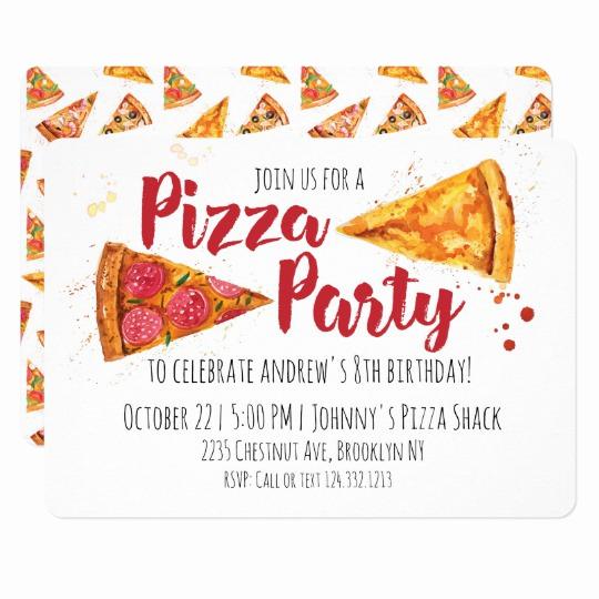 Pizza Party Birthday Invitation Unique Pizza Party Invitation