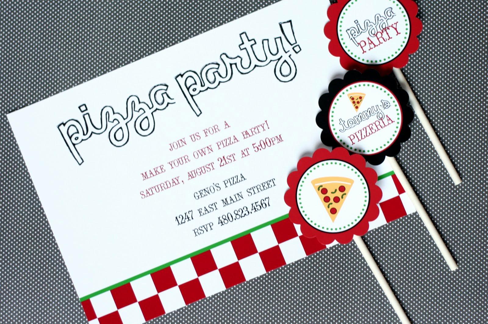 Pizza Party Birthday Invitation Unique the tomkat Studio Press New Pizza Party Designs On Cbs5