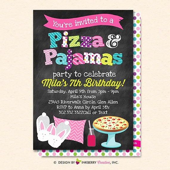 Pizza Party Invitation Template Beautiful 15 Pizza Party Invitation Designs & Templates Psd Ai