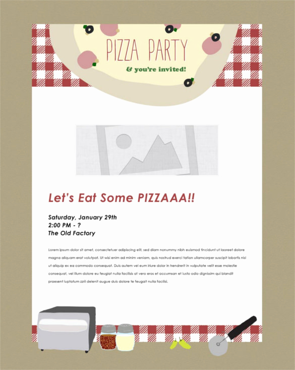 Pizza Party Invitation Template Best Of 30 Business Email Invitation Templates Psd Vector Eps