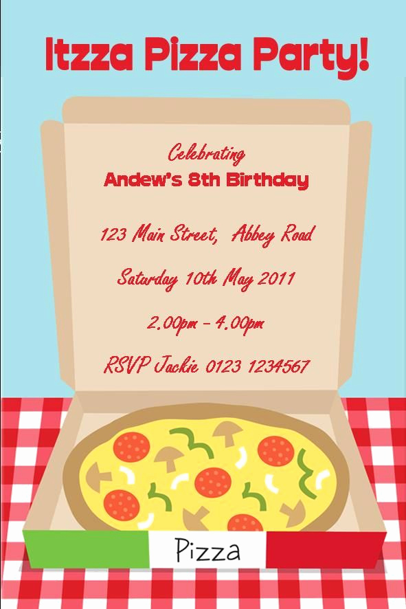 Pizza Party Invitation Template Best Of 58 Best Party Invitations Images On Pinterest