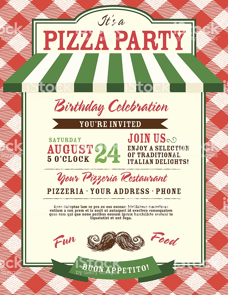 Pizza Party Invitation Template Best Of Pizza and Birthday Party Invitation Design Template