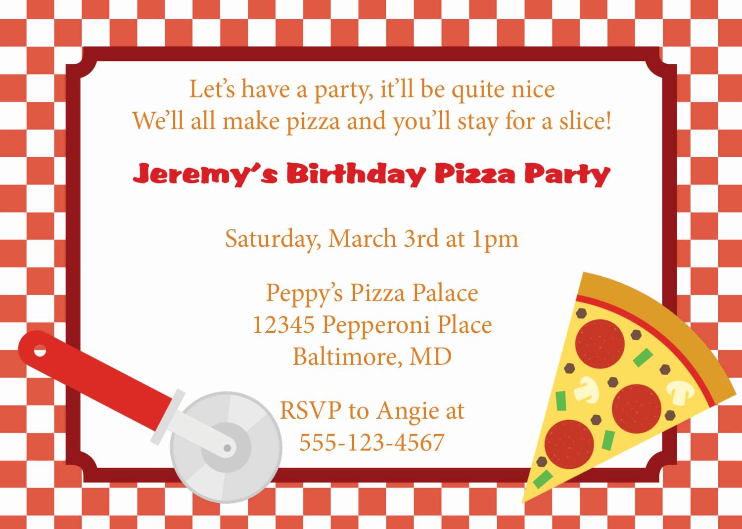Pizza Party Invitation Template Best Of Pizza Party Invitation Invite Diy Printable