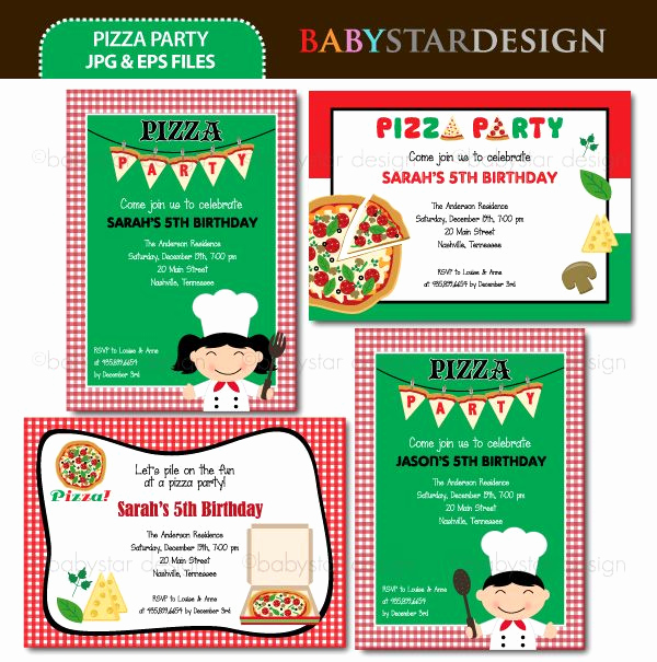 Pizza Party Invitation Template Elegant 7 Best Images About Pizza Party On Pinterest