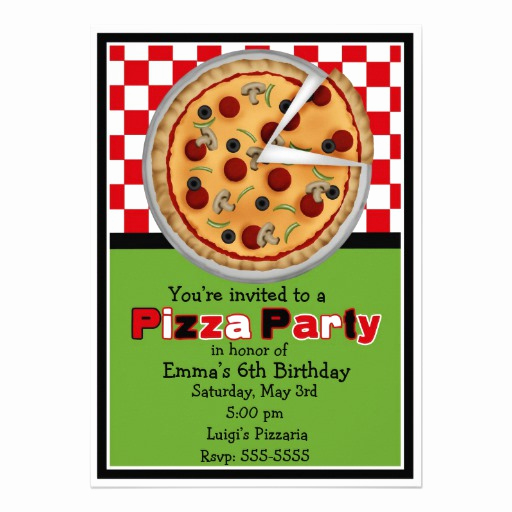 Pizza Party Invitation Template Elegant Pizza Party Invite Clipart