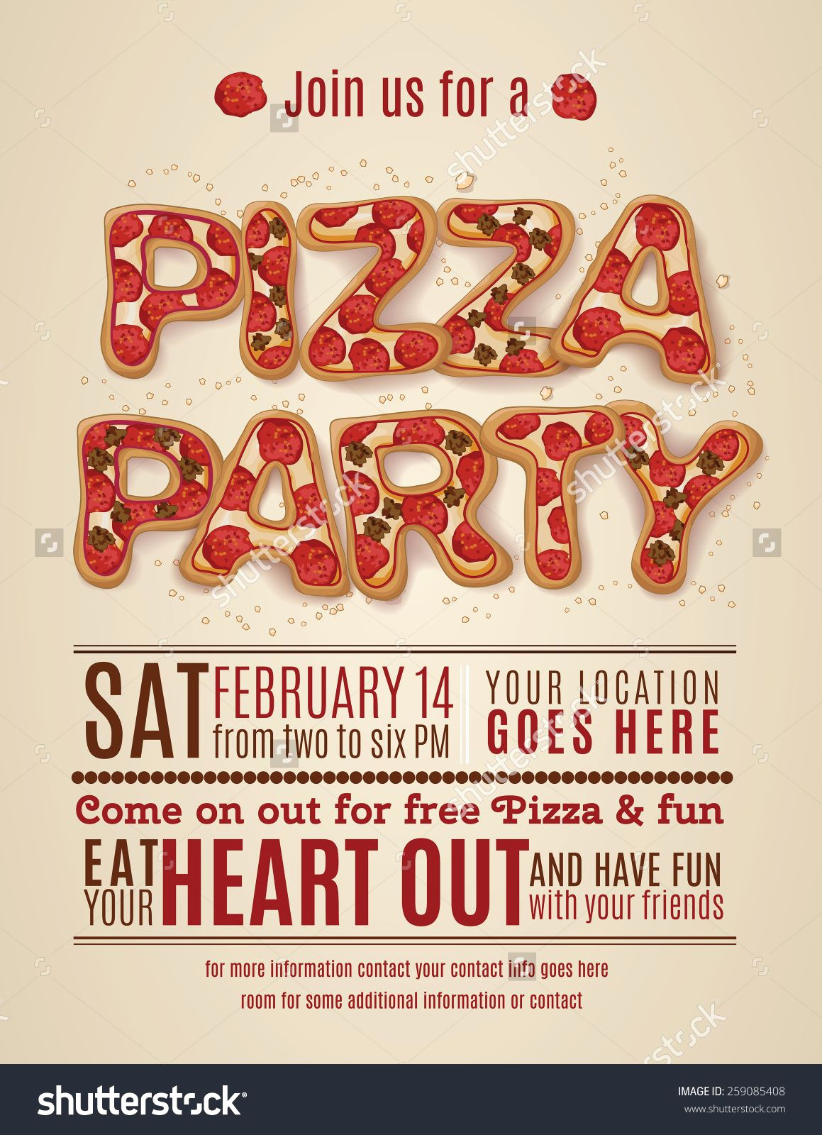 Pizza Party Invitation Template Unique Pizza Party Invitation Template Free Invitation