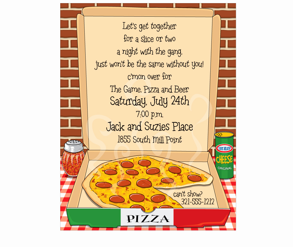 Pizza Party Invitation Template Unique Pizza Party Invite