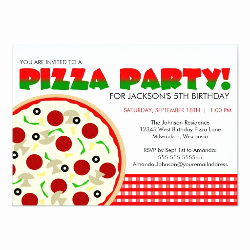 Pizza Party Invitation Templates Awesome Pizza Party Invitation