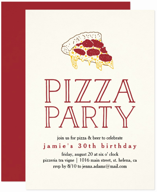 Pizza Party Invitation Templates Beautiful 15 Pizza Party Invitation Designs & Templates Psd Ai