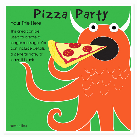 Pizza Party Invitation Templates Best Of Monster Pizza Party Invitations & Cards On Pingg