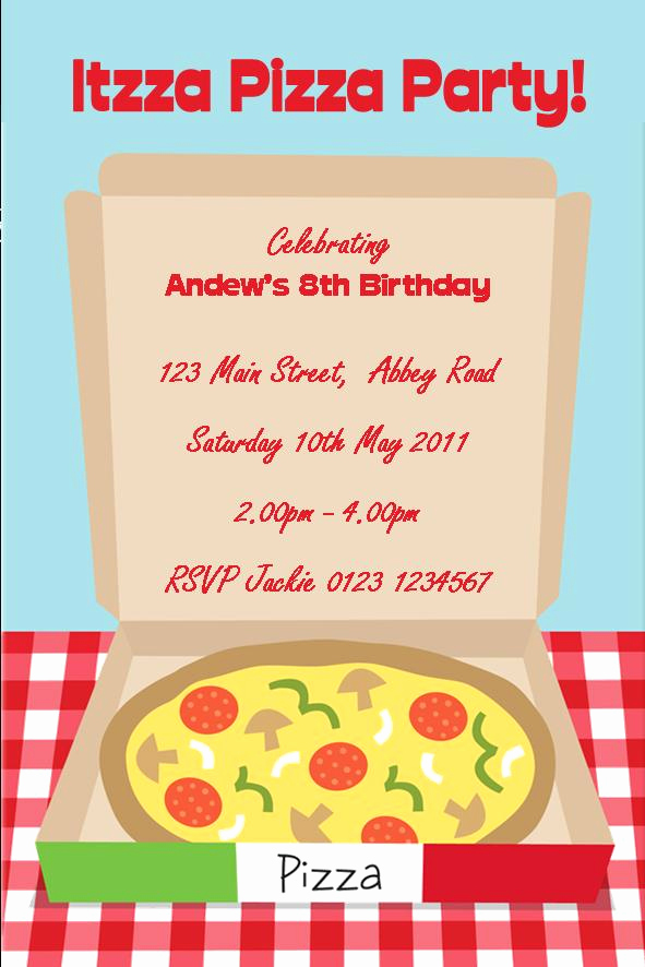 Pizza Party Invitation Templates Best Of Personalised Pizza Party Invitations