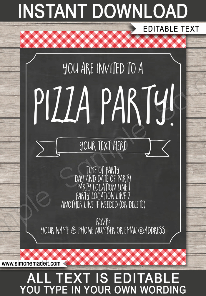 Pizza Party Invitation Templates Fresh Pizza Party Invitation Template