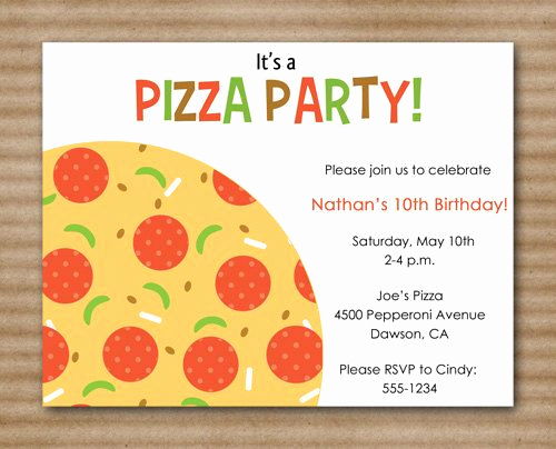 Pizza Party Invitation Templates Luxury 1000 Images About Pizza Party On Pinterest