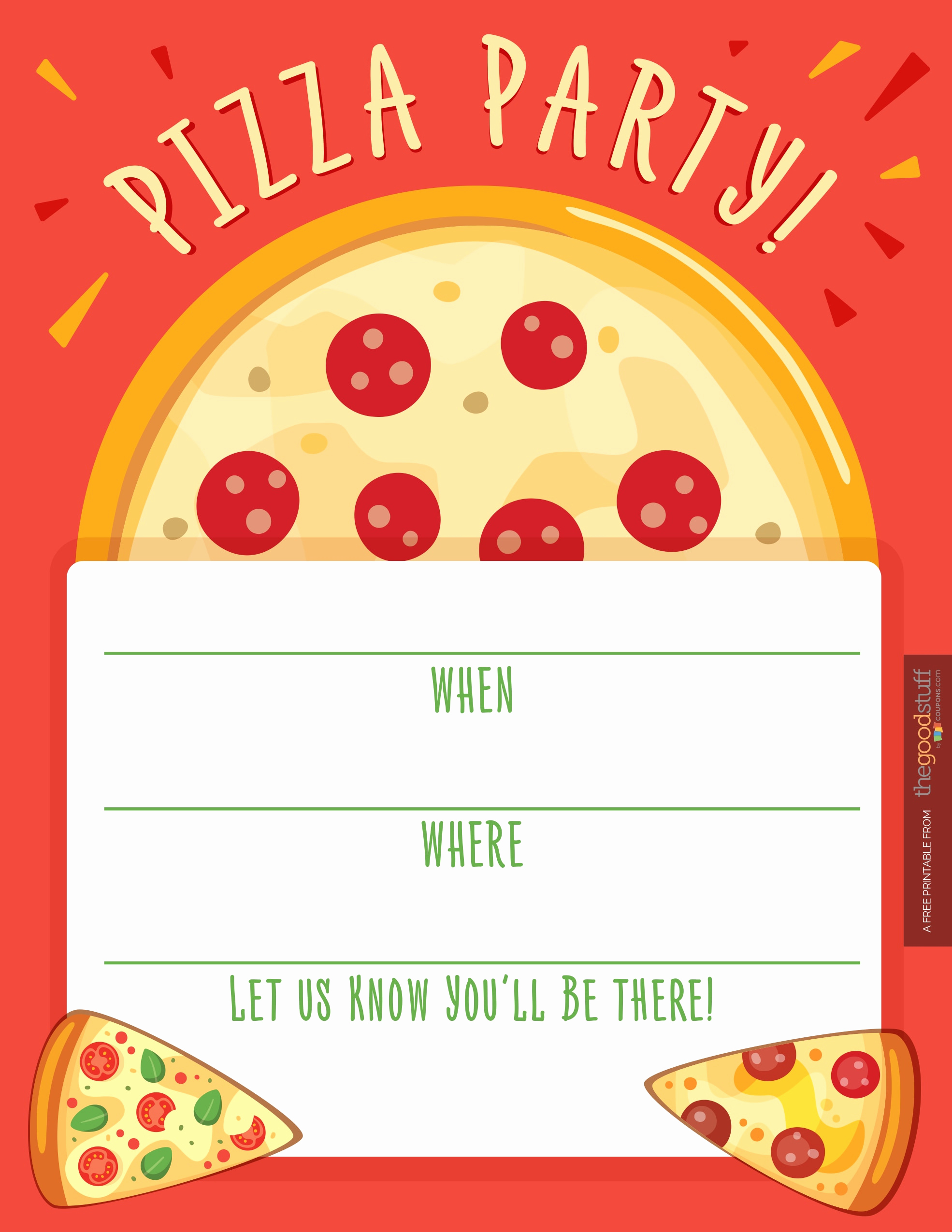 Pizza Party Invitation Templates Luxury Hostess Helpers Free Pizza Party Printables thegoodstuff