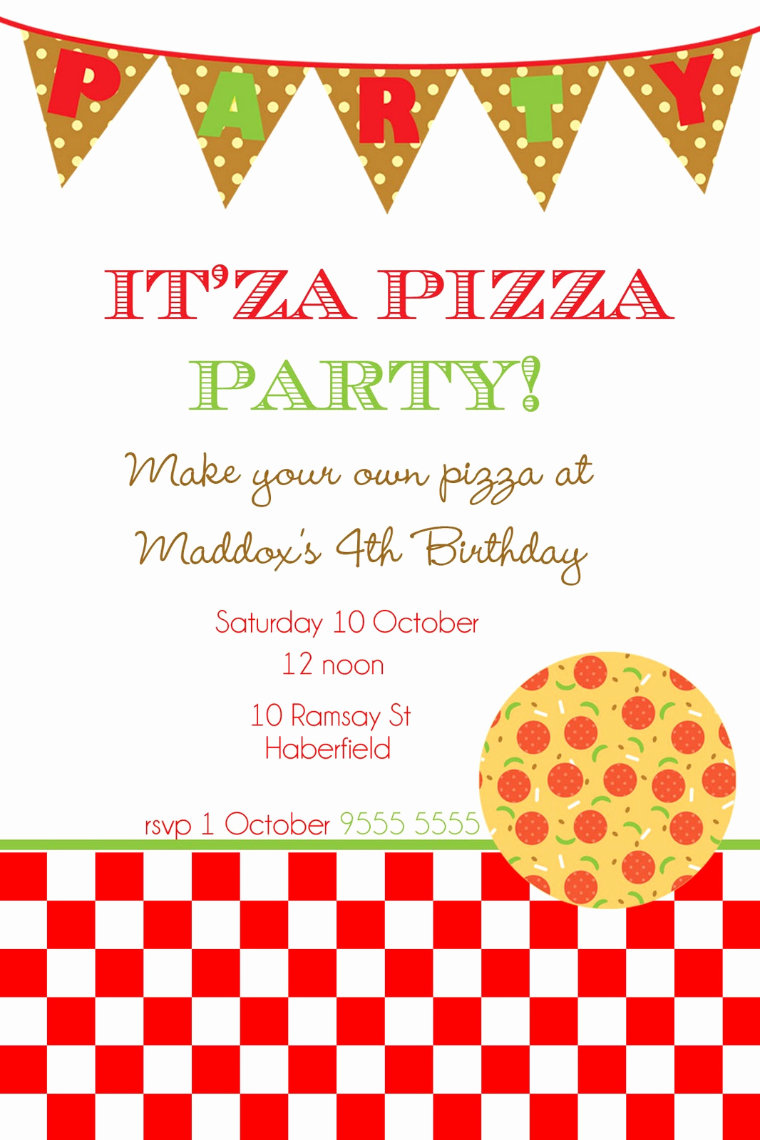 Pizza Party Invitation Templates Luxury Mon Tresor March 2011