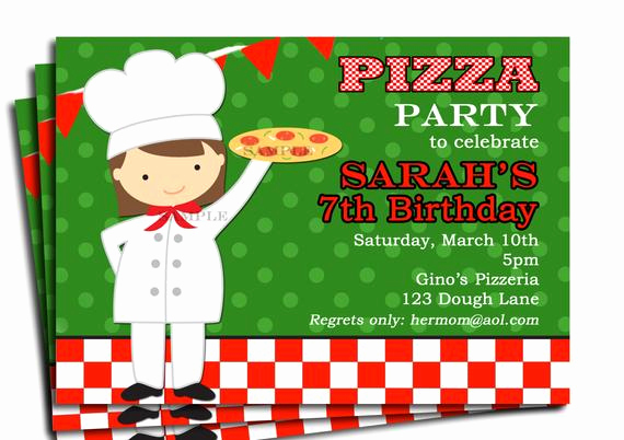 Pizza Party Invitation Wording Beautiful Girl S Pizza Party Invitation Printable or by thatpartychick