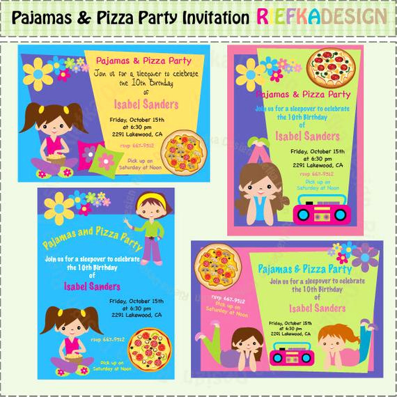 Pizza Party Invitation Wording Best Of Pajamas and Pizza Party Invitation