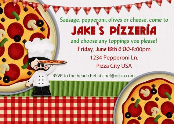 Pizza Party Invitation Wording Elegant 8 Best Pizza Party Images On Pinterest