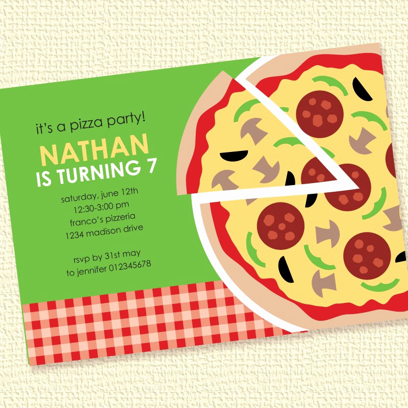 Pizza Party Invitation Wording Elegant Pizza Party Invitation Birthday Printable Custom by Paperspice