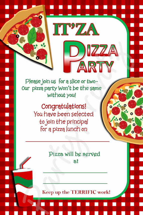 Pizza Party Invitation Wording Fresh Free Printable Pizza Party Invitation Template