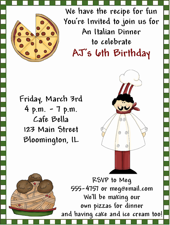 Pizza Party Invitation Wording Lovely Birthday Dinner Party Invitations Wording