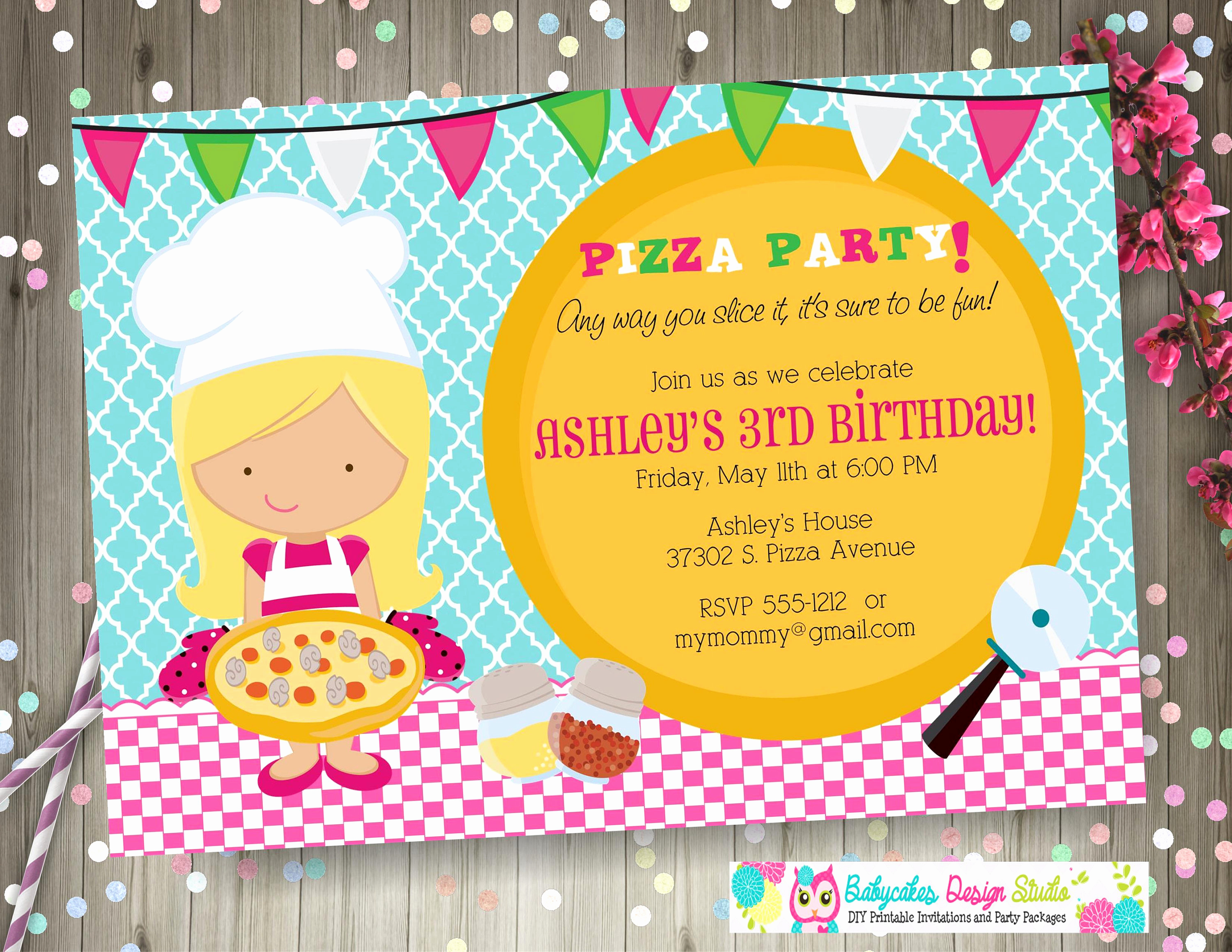 Pizza Party Invitation Wording Luxury Pizza Birthday Party Invitation Invite Pizza Party Invitation