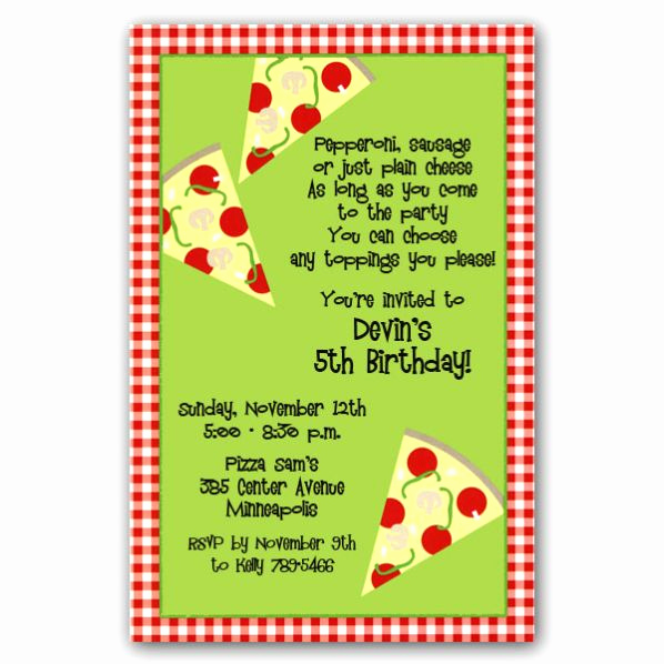 Pizza Party Invitation Wording Luxury Pizza Corners Birthday Invitations Clearance