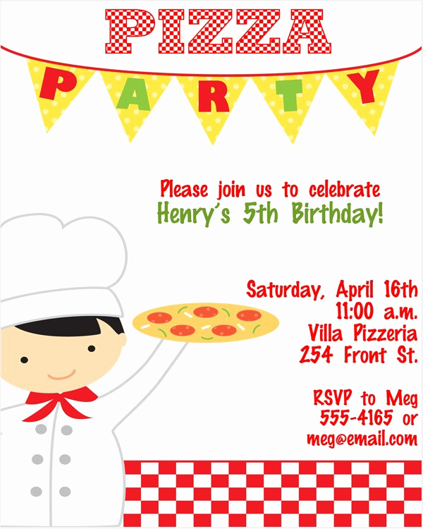 Pizza Party Invitation Wording Unique Expressionspaperie On Etsy