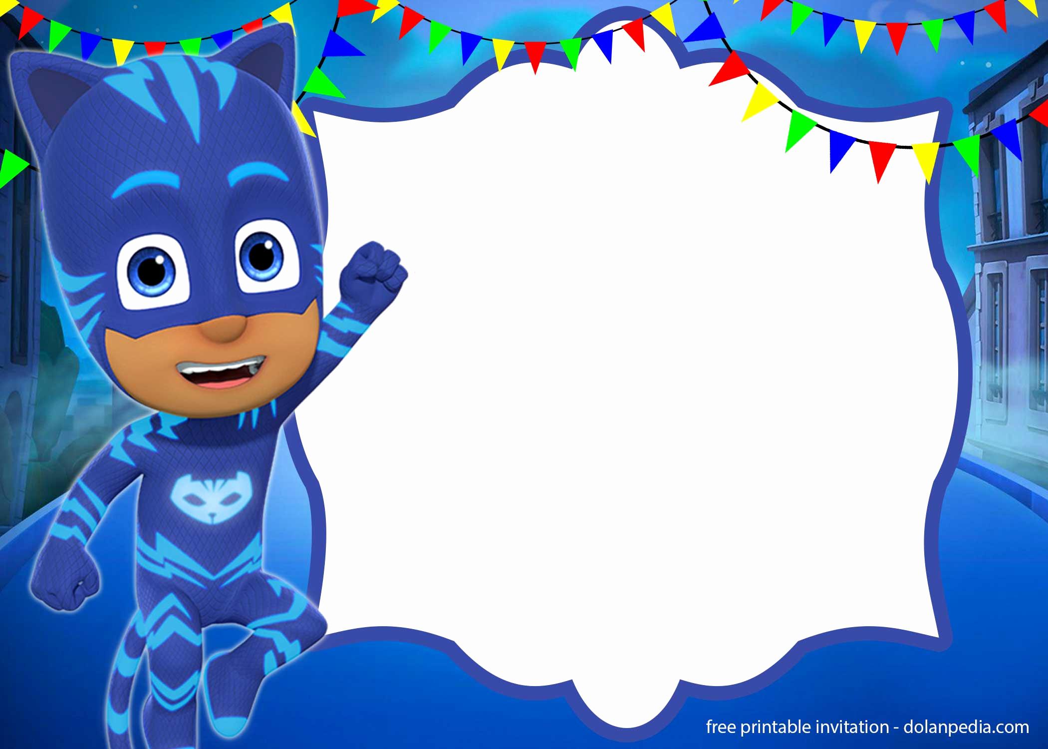 Pj Mask Birthday Invitation Template Beautiful 9 Free Pj Masks Birthday Invitation Templates – Updated