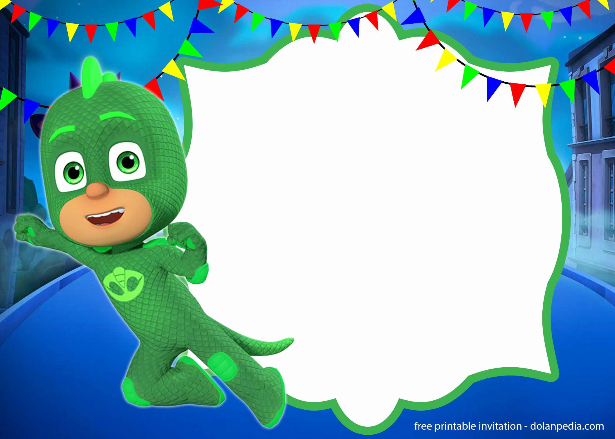 Pj Mask Birthday Invitation Template Unique Free Pj Masks Invitation Templates – Editable and