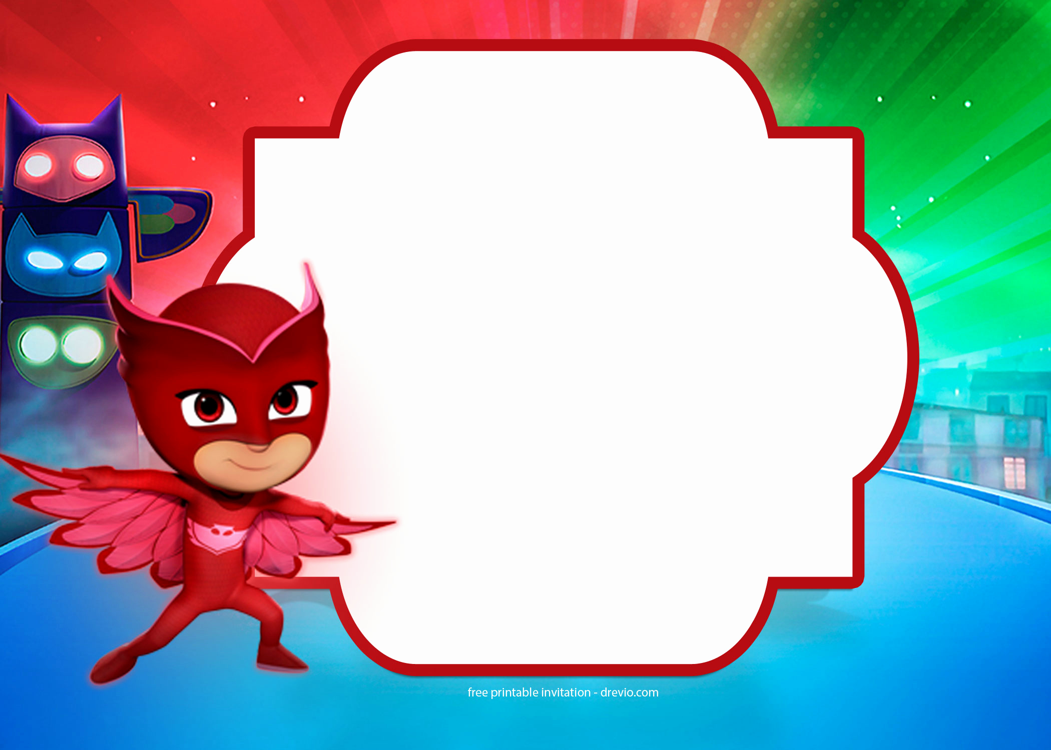Pj Mask Invitation Free Beautiful Free Pj Masks Birthday Invitation Templates