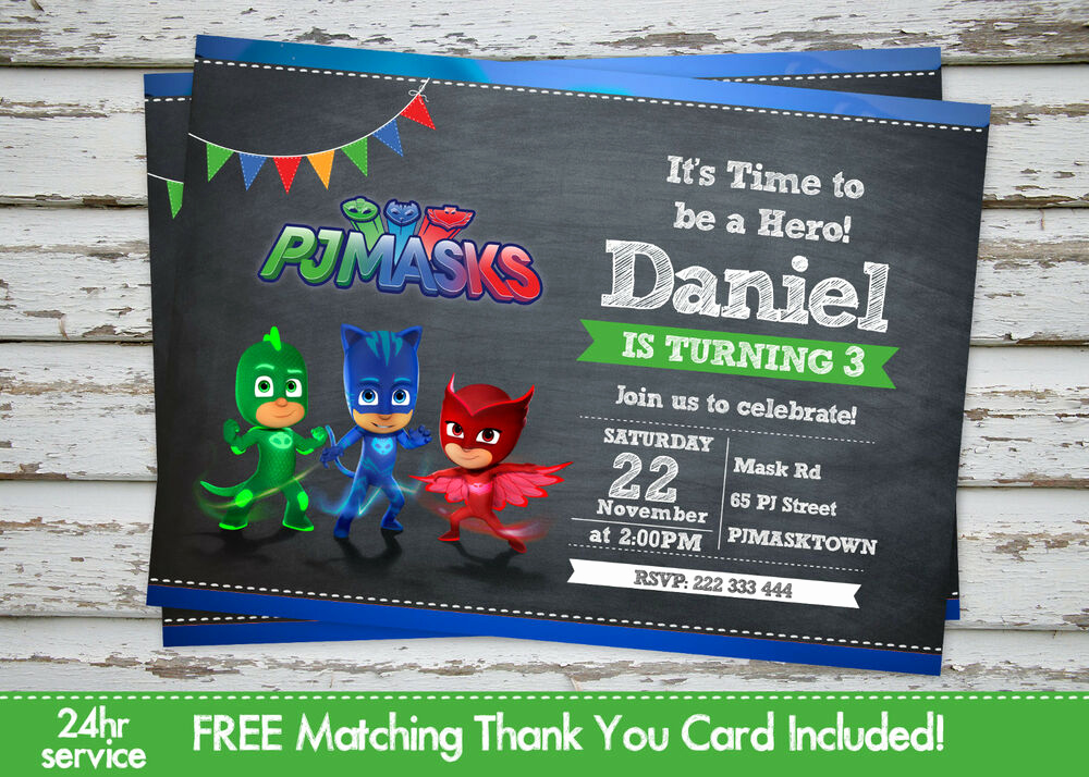 Pj Mask Invitation Free Lovely Pj Masks Birthday Party Invitation Printable with Free