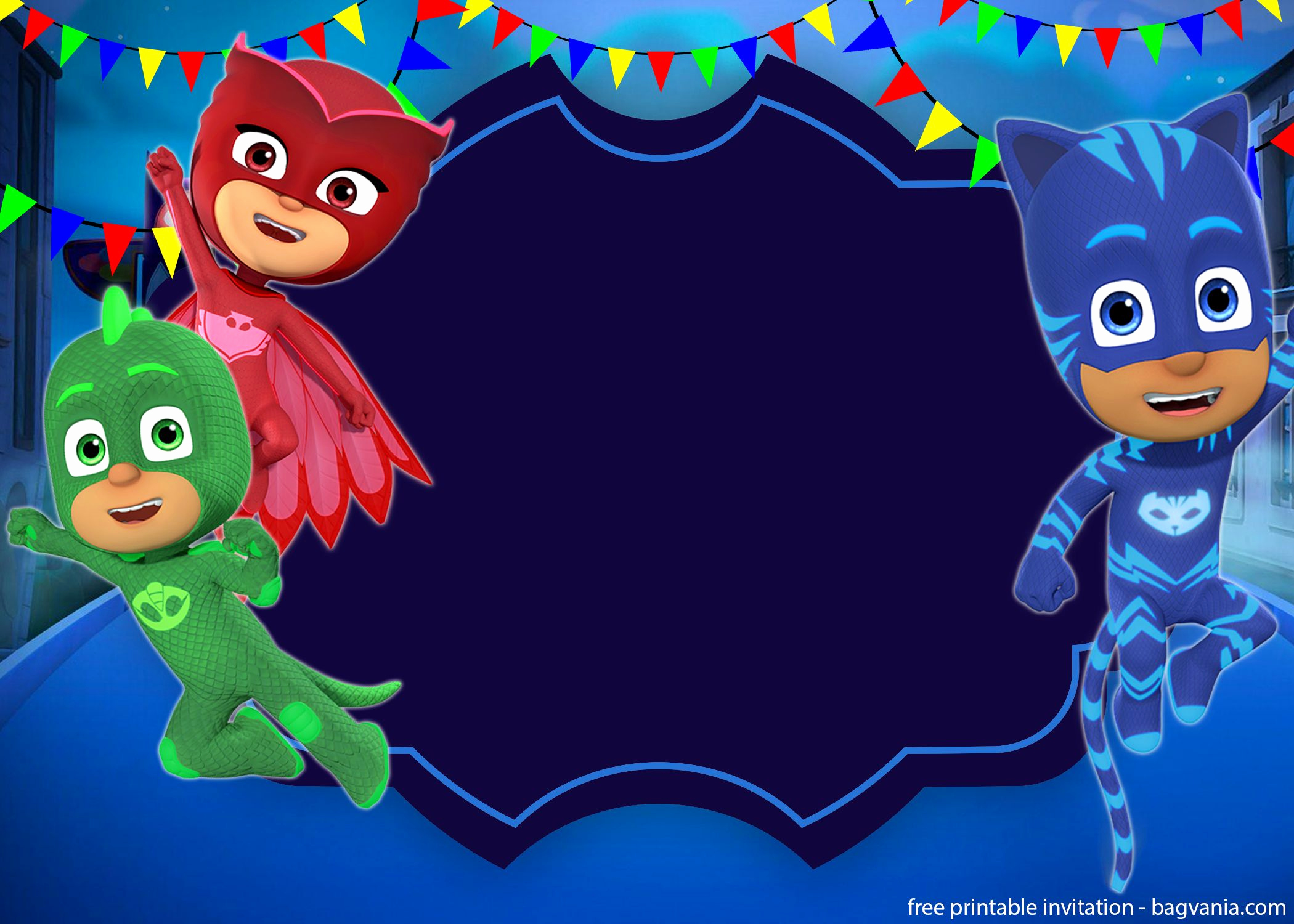 Pj Mask Invitation Free Luxury Free Printable Pj Masks Invitation Template – Free